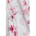 Майка H&M 42, белый цветы (60913)
