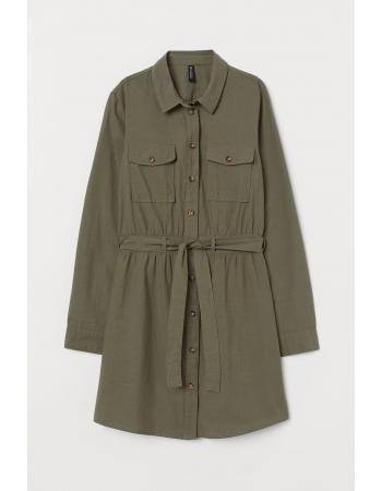 Платье H&M 40, зеленый хаки (60954)
