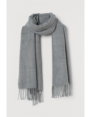 Шарф H&M 180x50см, серый меланж (60747)