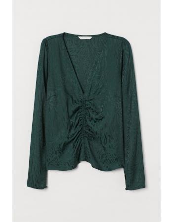Блуза H&M 34, зеленый (57261)