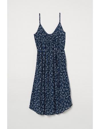 Платье H&M 42, темно синий узор (61006)