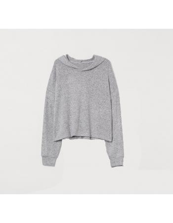Худи для сна H&M M, светло серый меланж (61058)