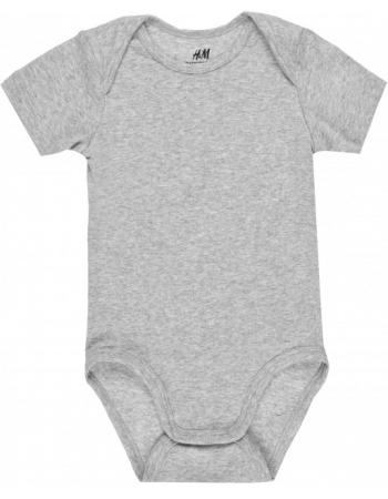 Боди H&M 80см, серый меланж (37117)