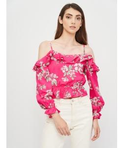 Блуза H&M, малиновий квіти (55497)