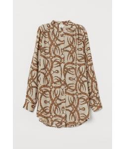 Блуза H&M, світло бежевий візерунки (58853)