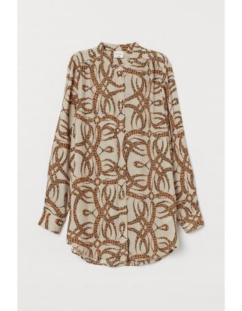 Блуза H&M 34, светло бежевый узоры (58853)