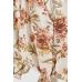 Блуза H&M 48, белый цветы (48325)