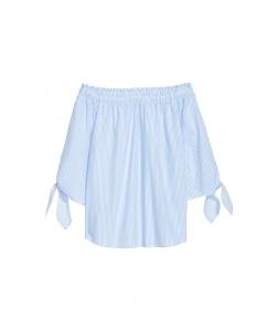 Блуза H&M, біло блакитна смужка (47272)