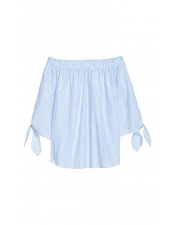 Блуза H&M 34, бело голубой полоска (47272)
