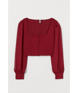Блуза H&M, бордовий (56186)