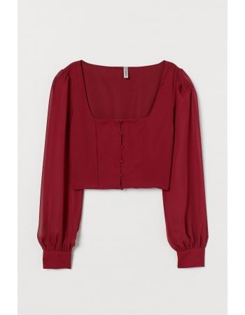Блуза H&M 36, бордовый (56186)