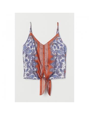 Блуза H&M 34, комбинированный (38377)
