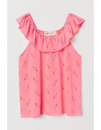 Блуза H&M 122 128см, розовый фламинго (53813)