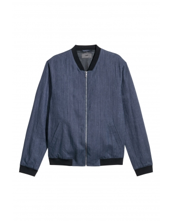 Бомбер H&M 56, темно синий (58301)