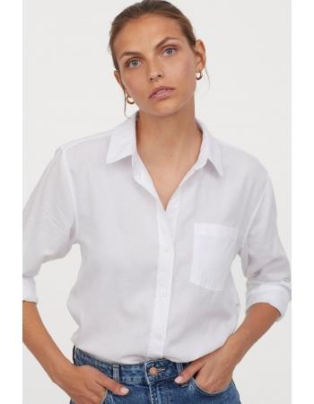 Рубашка H&M 42, белый (46582)