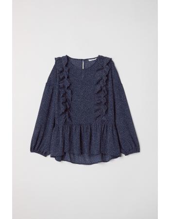Блуза H&M 36, темно синий узор (40482)