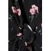Платье H&M 38, черный цветы (61788)