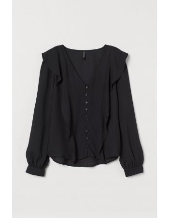 Блуза H&M 36, черный (61822)