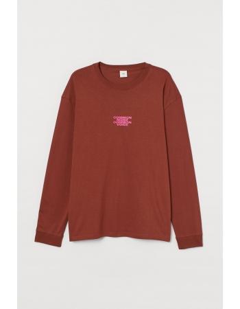 Лонгслив H&M XXL, коричневый (61809)