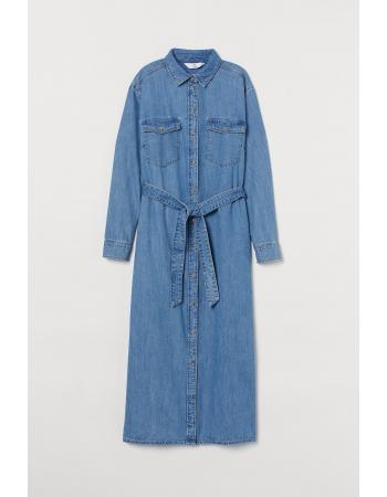 Платье рубашка H&M S, голубой (61806)