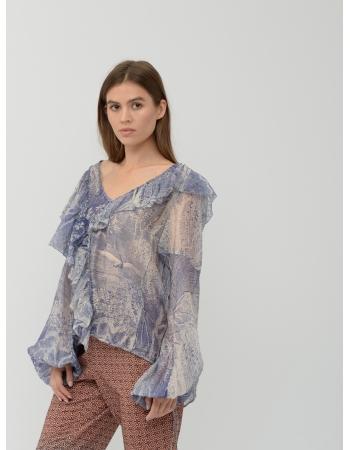 Блуза H&M 40, синий (43386)