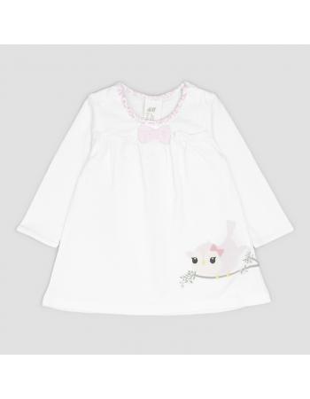 Платье H&M 62см, белый (46791)