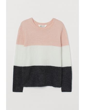 Джемпер H&M 170см, бело розовый (55273)