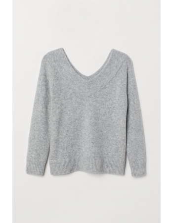 Джемпер H&M S, серый меланж (60552)