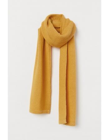 Шарф H&M 150 x 180 см, желтый (53337)